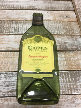 Caymus Napa Valley Cabernet Sauvignon 2014 (regular size)   - Melted Wine Bottle Cheese Serving Tray - Wine Gifts