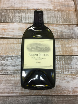 Joseph Phelps Vineyards Cabernet Sauvignon  - Melted Wine Bottle Cheese Serving Tray - Wine Gifts