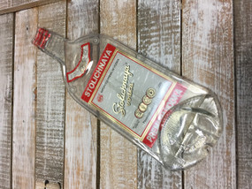 Stolichnaya Vodka Handmade melted bottle serving tray - Great one kind gifts