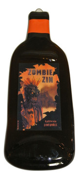 Zombie Zin Melted Wine Bottle Cheese Serving Tray - Wine Gifts