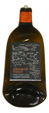 Educated Guess Melted Wine Bottle Cheese Serving Tray - Wine Gifts