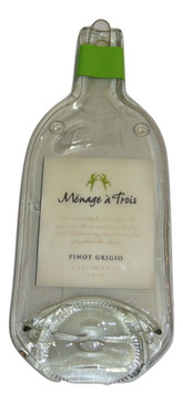 Menage A Trois Melted Wine Bottle Cheese Serving Tray - Wine Gifts