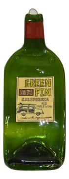 Green Fin 2015  Melted Wine Bottle Cheese Serving Tray - Wine Gifts