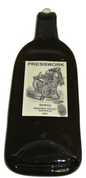 Press Work Melted Wine Bottle Cheese Serving Tray - Wine Gifts