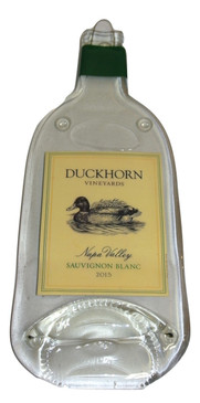 Duckhorn  Cellars Sauvignon BlancMelted Wine Bottle Cheese Serving Tray - Wine Gifts