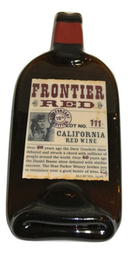 Frontier Red Cellars Melted Wine Bottle Cheese Serving Tray - Wine Gifts