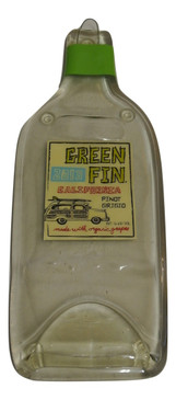 Green Fin Cellars Pinot Grigio Melted Wine Bottle Cheese Serving Tray - Wine Gifts