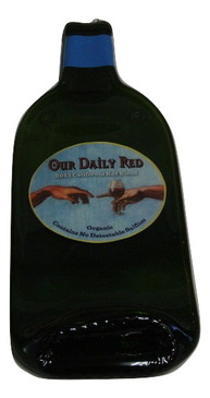 Our Daily Read Melted Wine Bottle Cheese Serving Tray - Wine Gifts