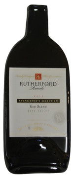 Rutherford Ranch 2015 Red Blend-Napa Valley Melted Wine Bottle Cheese Serving Tray-Wine Gifts