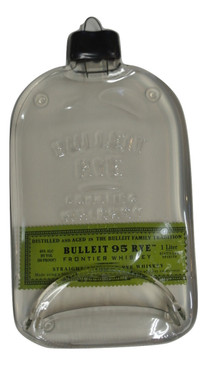 Bulleit 95 Rye Handmade Serving Bottle Tray - Melted Glass Whiskey Bottle-Green Label