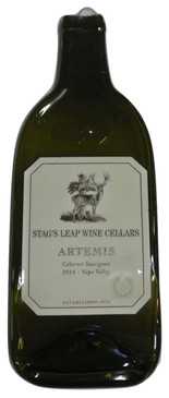 Stag's Leap Wine Cellars Artemins Cabernet Sauvignon  - Melted Magnum Wine Bottle Cheese Serving Tray - Wine Gifts