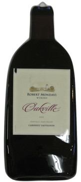 Robert Mondavi Winery Oakville Cabernet Sauvignon  - Melted Wine Bottle Cheese Serving Tray - Wine Gifts