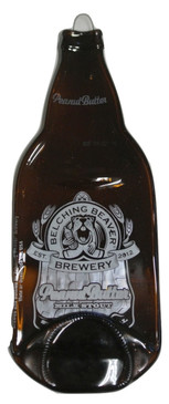 Belching Beaver Brewery  Peanut Butter   - Melted Bottle Cheese Serving Tray - Wine Gifts