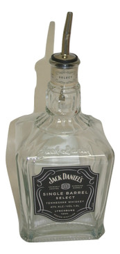 Jack Daniels Single Barrel Select Whiskey Liquor Bottle Repurposed Dish Soap Dispenser