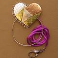 PATCHWORK HEART SCISSOR SITTER