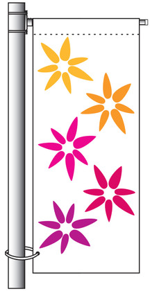 Single Arm Single Sided Avenue Banner Mounting Sets