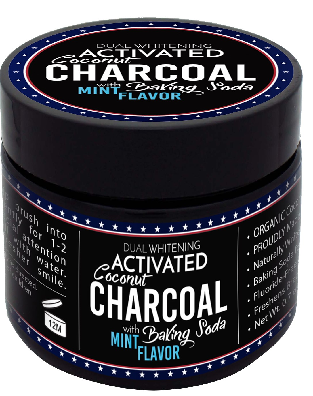 Charcoal Powder Front New Jar