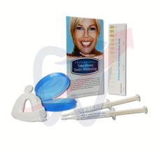 Custom Tray Whitening Kit Includes - 2 x 3ml Whitening Gel Syringes, 2x Thermoforming Whitening Trays, Mouth Tray Case, Paper Shade Guide, Instructional Insert