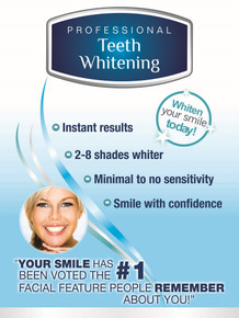 "Professional Line Poster (18"" x 24"") - Ideal For Mobile Teeth Whitening, Tradeshows and In-Store"