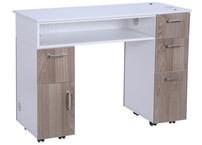 AYC Milan Manicure Table (Solid Grey)