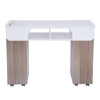 AYC Seneca Manicure Nail Table (Solid Grey)