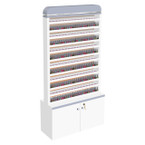 AYC Nova I Polish & Powder Rack with Cabinet (Double-Sided)