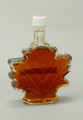 Extra Large Glass Maple Leaf, Amber Rich, Grade A