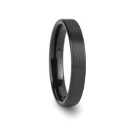 JAMESON Flat Satin Black Tungsten Carbide Band