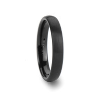 ANTIGONE Round Black Tungsten Carbide Wedding Band