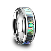 MOLOKAI Mother of Pearl Center Tungsten Band