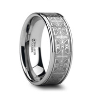 PONTIFEX Cross Pattern Engraving on Tungsten Carbide Ring