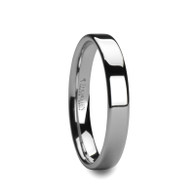 CALLIOPE Pipe Cut Polished Tungsten Wedding Band for Her