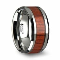 ANDWELE Padauk Wood Tungsten Carbide Ring