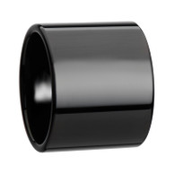 ODIN Flat Black Pipe Cut Tungsten Ring with Polished Finish