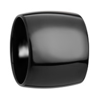 CLERKE Extra Wide Domed Polished Black Tungsten Carbide Ring for Him