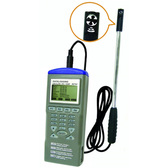 Mini Vane Air Flow Anemometer Humidity Temperature and USB Data logger