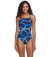 Arena Women's Spider Light Drop Back Swimsuit - Navy
