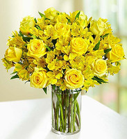 Dozen Roses + Peruvian Lilies