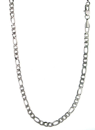 """Stainless Steel   Figaro Chain  3mm   Available Lengths:  18"""",20"""",22"""",24"""",30"""",34"""