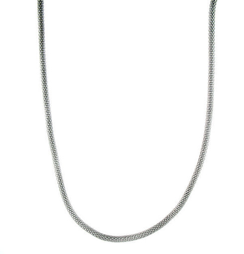 """Stainless Steel   Round Snake   Chain Necklace   Weight: 11.1 grams   Approx. Width: 3mm  Available Lengths: 22"""", 24"""" 26"""