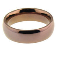 Coffee Brn Stainless Steel Comfort Fit Band Ring   Ring Type: Comfort Fit   Top Width: 5mm   Approx. Weight: 5.0 grams  Available Sizes: 5 - 16