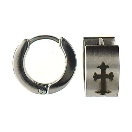 Stainless Steel   Maltese Cross Earrings  Weight: 6.4 grams   Diameter: 13mm