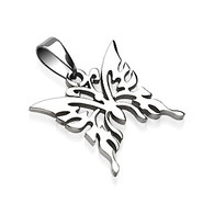 "316L Surgical Steel Butterfly Pendant Height .91"" width .83"""