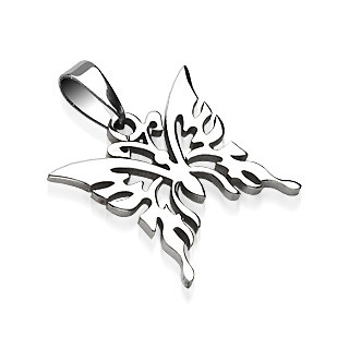 """316L Surgical Steel Butterfly Pendant Height .91"""" width .83"""""""