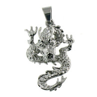 Description: Stainless Steel Dragon Biker Pendant.   Intricately detailed stainless steel dragon biker pendant.  Pendant Approx. Weight: 10.5 grams   Approx. dimensions: 25mm x 45mm