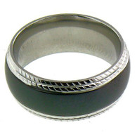 Description: Black Stainless Steel Comfort Fit Band Ring  Steel black band ring can be engraved or stamped!   Ring Type: Comfort Fit   Top Width: 8mm   Approx. Weight: 7.1 grams