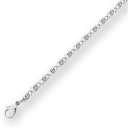 Stainless Steel Ankle Bracelet with Scroll  Design size 9.5 with 2 inch extender