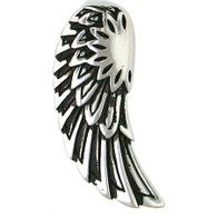 Large Stainless Steel Angel Wing Pendant.   Comes with Free Stainless Steel Necklace