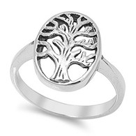 Stainless Steel Stylish Tree Of life Design Ring with Face Height of 16MM
