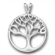 Stainless Steel Tree Of Life Pendant Includes Stainless Steel 18 In Necklace